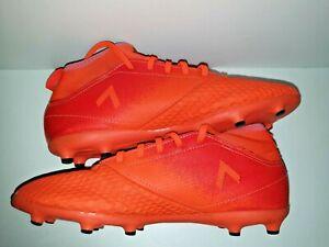 Garcons-Filles-Junior-Adidas-Ace-17-3-Chaussette-Chaussures-De-Football-Orange-Taille-5-cintre
