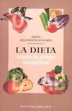 LA Dieta Segun Tu Grupo Sanguineo / Diet According to Your Blood Group-ExLibrary