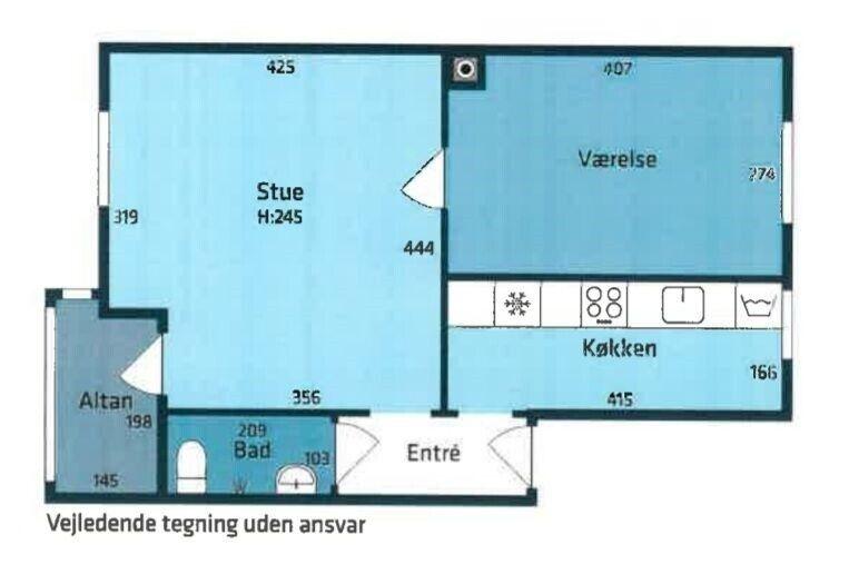 Andelslejlighed med god placering i Kgs. Lyngby
