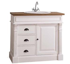 Details zu Waschtisch Waschbeckenunterschrank Badezimmer Möbel Landhaus  Massivholz vintage