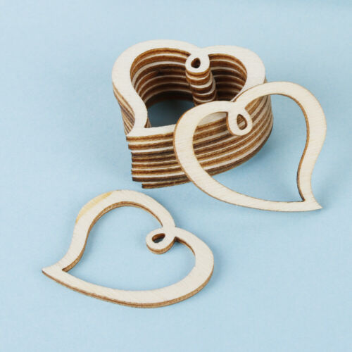 Embellishment Hanging Ornaments Love Heart Wood DIY Crafts Wooden Slice