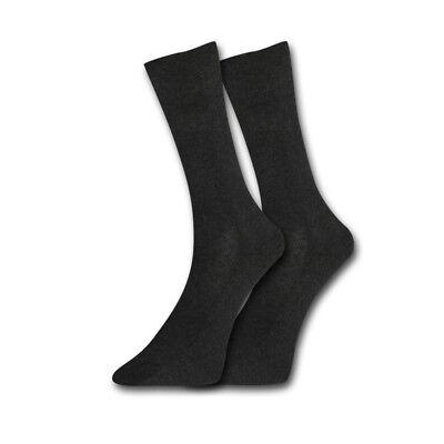 3 x Falke London Herren Socken Strümpfe druckfr Bündchen 43-46 anthrazit mel