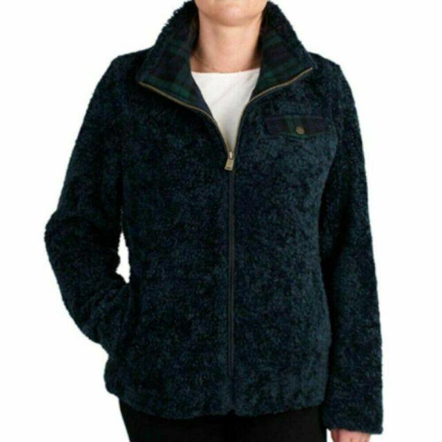 Pendleton Ladies' Fuzzy Zip Jacket - DARK BLUE - LARGE
