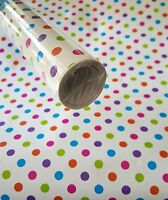 10ft Polka Dot Contact Wall Paper Shelf Liner Peel & Stick 10ft X 20