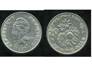 Polynesie Francaise 20 Francs 1977 DernièRe Mode