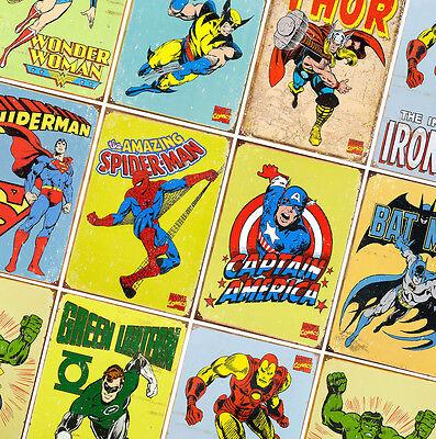 DC COMICS MARVEL SUPER HERO AVENGERS A4//A3//A2 300gsm Poster Wall Art Deco Print