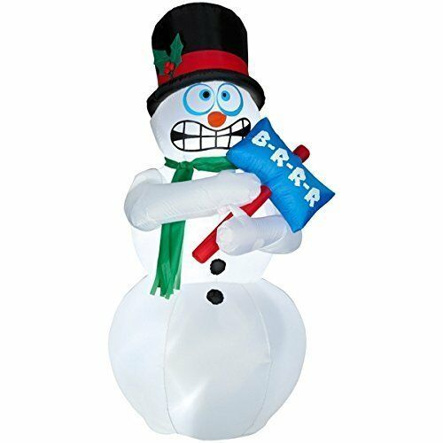 6 Foot Animated Airblown Inflatable Shivering Snowman (ES230)