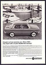 "1964 Chrysler Simca 1000 Sedan photo ""All New Economy Car"" promo print ad"