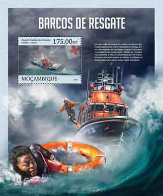 100% QualitäT Mosambik - 2013 Rettungskräfte Boote - Briefmarke Souvenir Blatt - 13a-1223