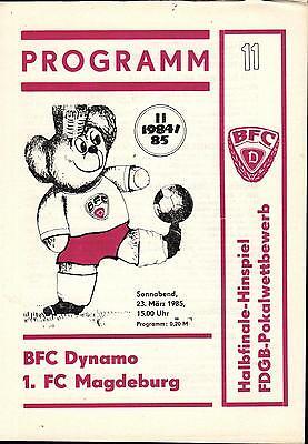 BFC Dynamo Berlin OL 84//85 FC Rot-Weiß Erfurt