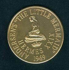 MERMAID - Disney The Little Mermaid Mardi Gras Doubloon Token Coin 1969