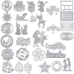 Die-Metal-Cutting-Dies-Stencil-bricolage-decoratif-Scrapbooking-Noel-Craft-Decor