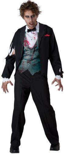 Uomo Dead Zombie Corpse Sposo Halloween Costume Vestito M-XL