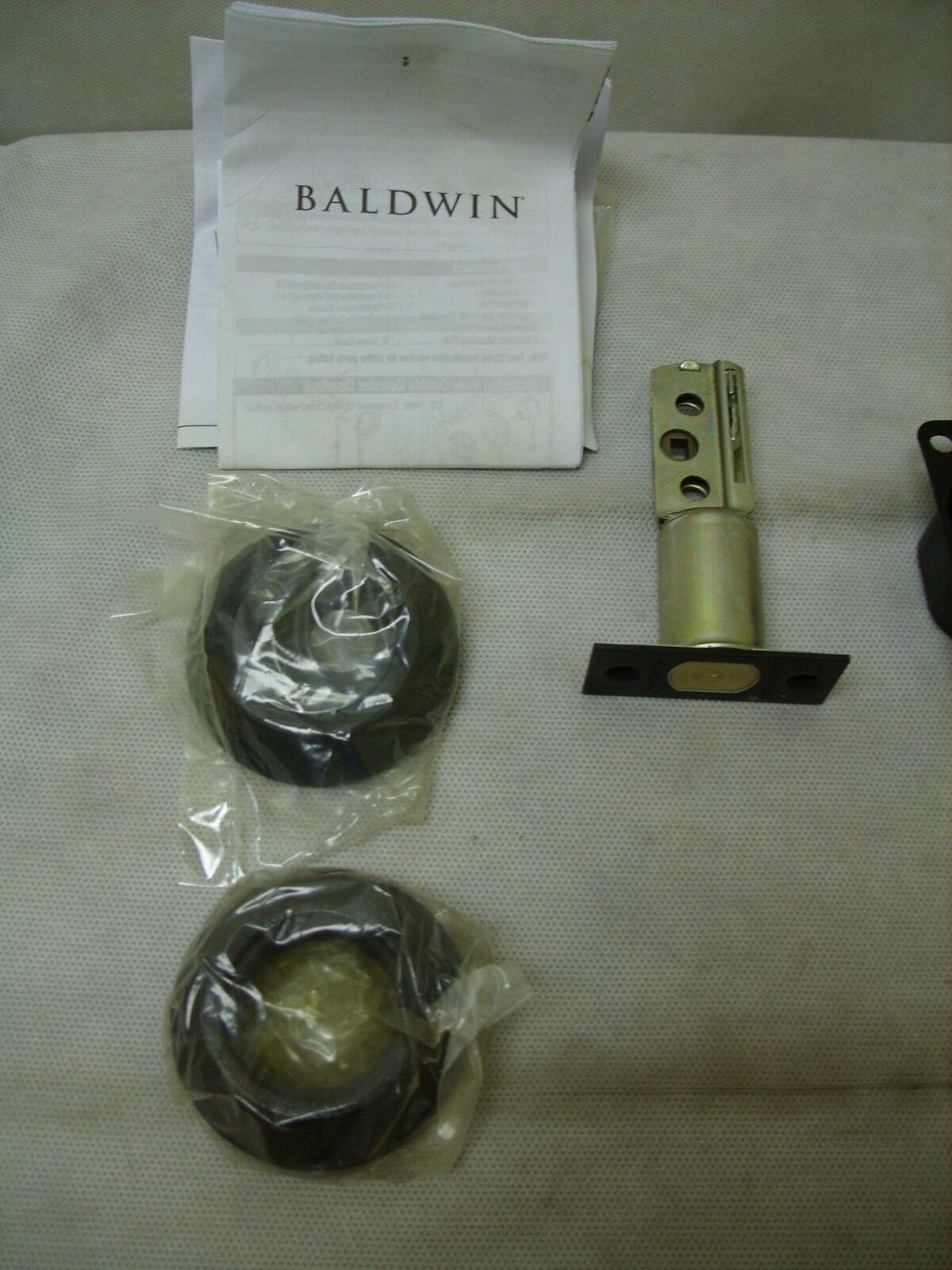 """Baldwin Double Cylinder 2-1//8/"""" Door Prep D.Oil Rubbed Bronze 8242-402 791HW"""