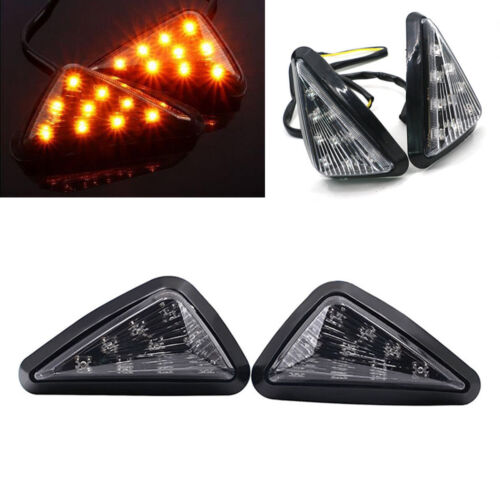Motorcycle head triangle turn signal 9 LED Amber  Indicators   Easy installation