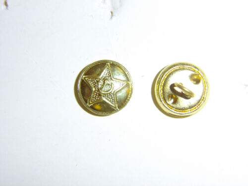 b2439 WW 2 Soviet Russian Russia small gold service dress button B2D19