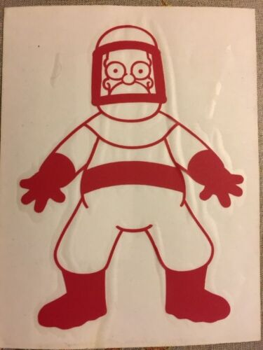 "The Simpsons Rare Rub-on Sticker 4.5/""x5.5/"""