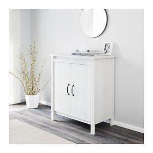 Ikea brusali mobile con ante bianco 80x93 cm ebay - Mobile tv brusali ikea ...