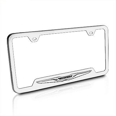 Chrysler Polished Stainless Steel License Plate Frame