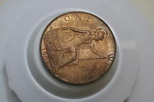 UK-GB-PENNY-1908-SCARCE-HIGH-GRADE-EDWARD-VII-UNTOUCHED-A72-K4847
