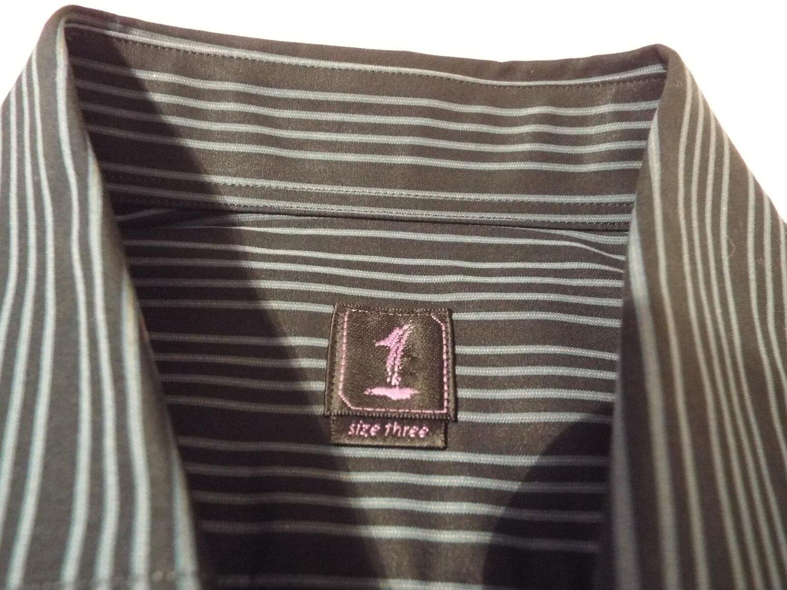 1 come nessun altro Camicia Da Uomo Uomo Uomo   Taglia 3 (46 ) sul petto   RRP +   RARA GRANDE Strisce c3c483