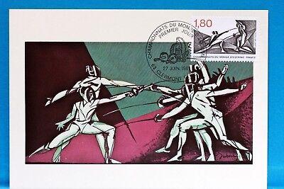Europa Briefmarken Fechten Frankreich Cpa Postkarte Maximum Yt 2147 C Warmes Lob Von Kunden Zu Gewinnen