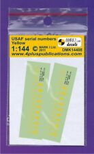 Mark I Decals 1/144 USAF Yellow Serial Numbers (2 Sets) # 14408