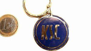 Ksc Karlsruher Sc Schlüsselanhänger Logo Rund Gold Blau Keyring History 36mm