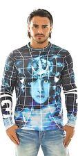 Mens Divine Trash Sweatshirt Designer Graphic Pullover Crew Neck Jumper Small