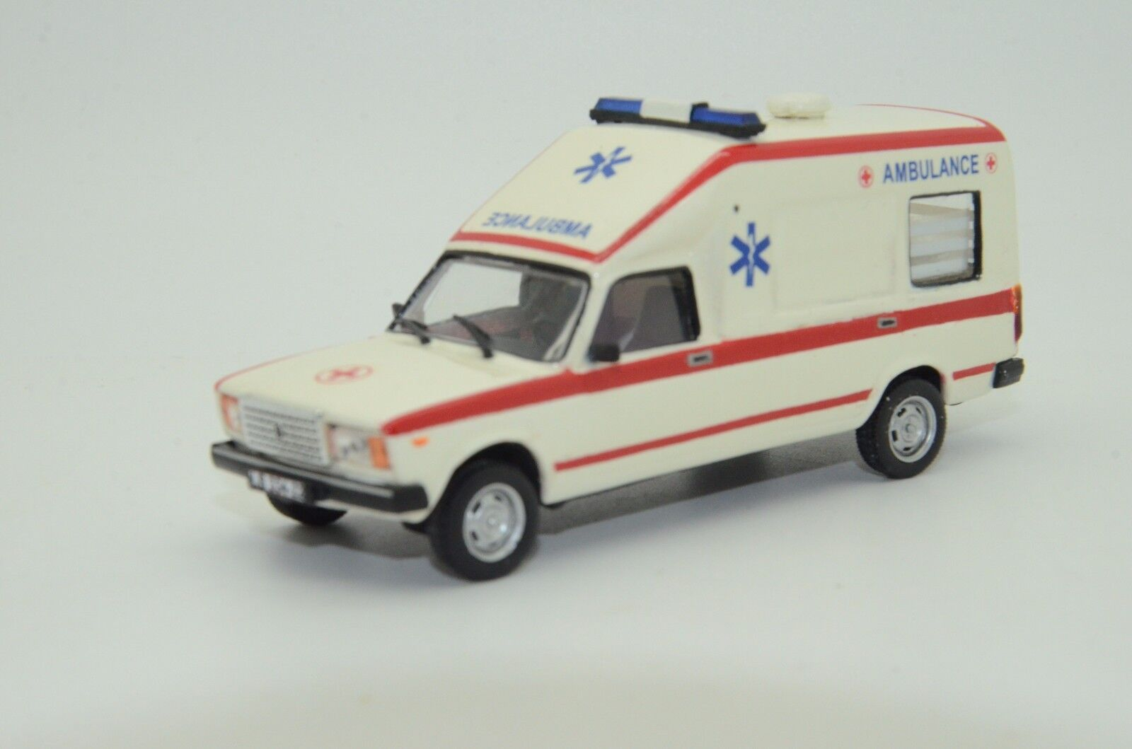 Mega Raro Lada 2107 modelos de vector de coche Ambulancia blancooa hecha a mano de 1 43