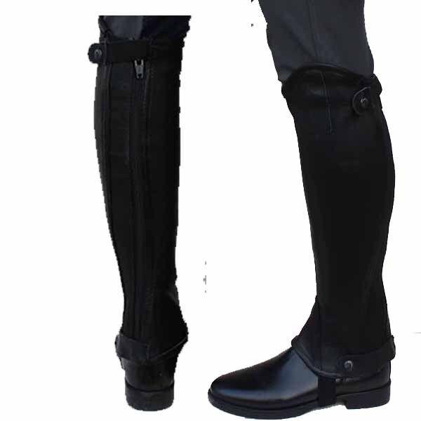 Chaps TopLine Bonn Daselfo schwarz Lederchaps Beinchaps f.Stiefeletten Beinchaps Lederchaps pferdo24 fcd7d9