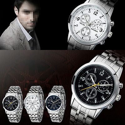 Men's Women's New Classic Couple Design Stainless Steel Quartz Sport Wrist Watch
