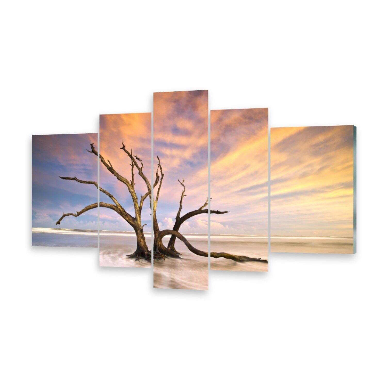 Mehrteilige Bilder Glasbilder Wandbild Toter Baum