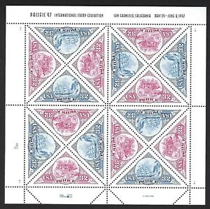 Details about U S #3130-31 PACIFIC 97 STAMP EXPO  MINT, VF, NH FULL SHEET @  FACE VALUE!