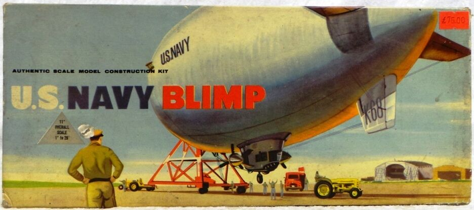 AVIATION   U.S. NAVY BLIMP MODEL KIT MADE BY KLEEWARE KIT NUMBER 3176