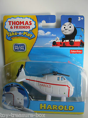 Thomas /& Friends Take N Play Harold Diecast New Pack R8858
