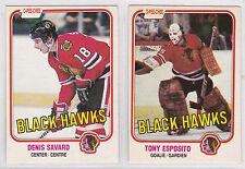 Chicago Black Hawks 1981/ '82 O-Pee-Chee Complete Team Set (20) Denis Savard RC+