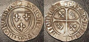 Charles-VI-blanc-guenar-point-12eme-Macon-5e-emission-1417-Dy-377D