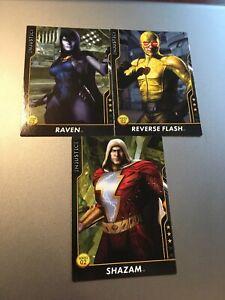 Injustice-Arcade-Game-Cards-Reverse-Flash-Shazam-Raven-Series-2-NEW