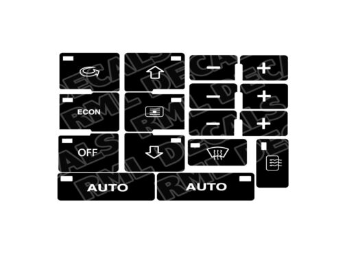 AC Button Repair Overlays Audi A4 Climate Control Decals