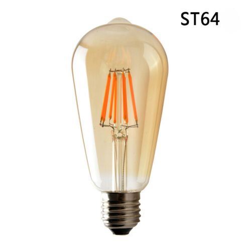 Vintage /& Retro Edison Benennen E27 4W LED Filament Glühbirne Lampe Industriell