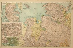 Map Of North West Germany.Details About 1908 Map North West Germany Holstein Hamburg Plan Remen Oldenburg Hanover