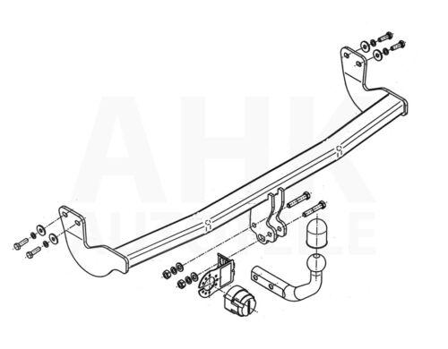 Citroen C3 II 09-16 Kpl Anhängerkupplung starr ABE