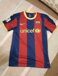 FC BARCELONA HOME GENUINE MATCH SHIRT 07 08 MESSI 10 (NIKE ADULT S ... d4b3fdd8d636b