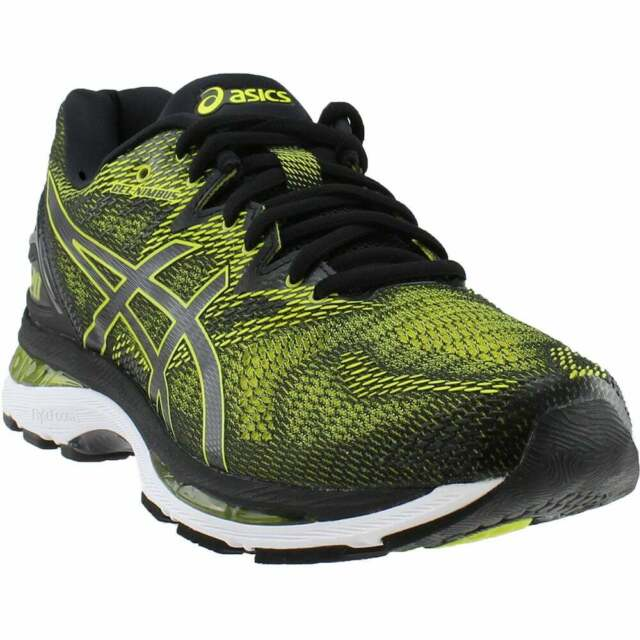 Details zu Asics Gel Nimbus 18 Mens Shoes T602N SilverInkYellow (4E)Wide, Size 9.5 & 12