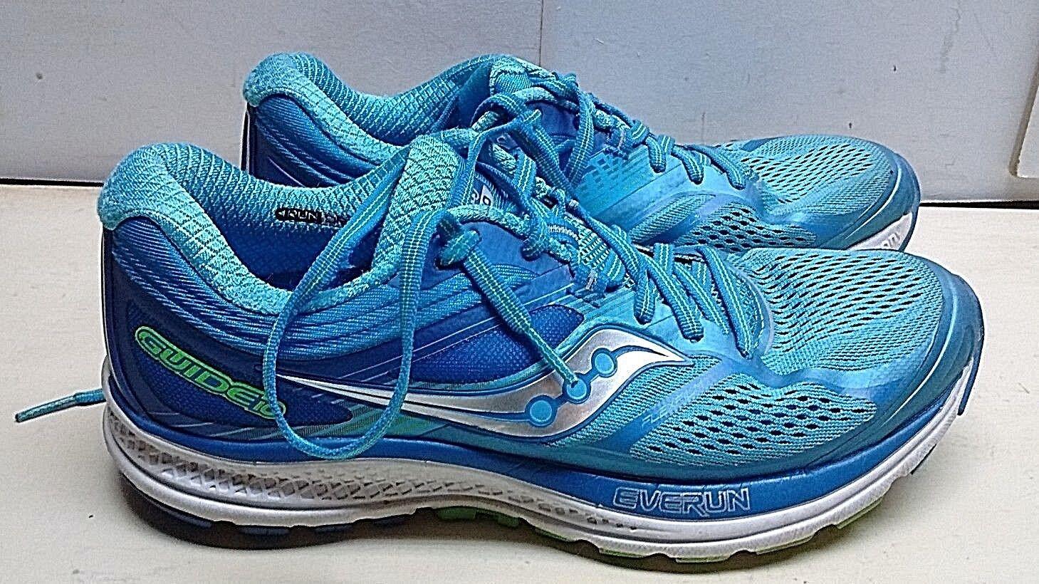 Saucony Guide10 Textile  Blue Sport Lace Athletic Sneaker Women's Shoes 9.5 M 41