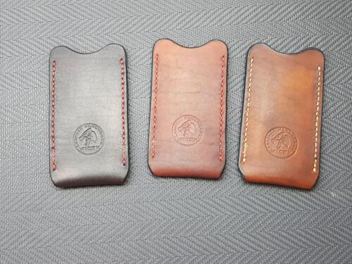Genuine leather pocket  slip case sheath for folder knives