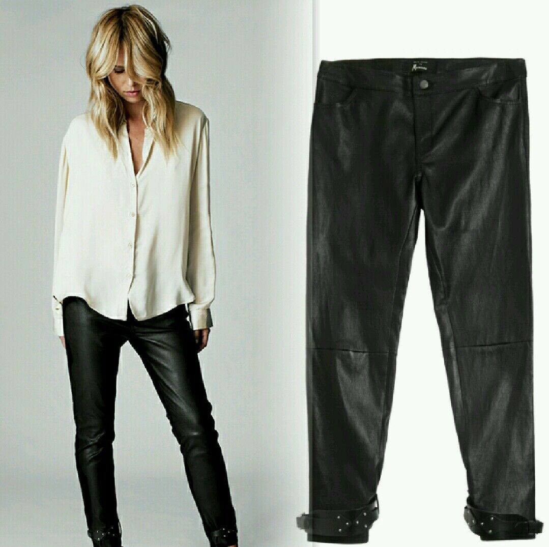 NEW  Elin Kling for Marciano - Linn 100% Leather Pant size 4