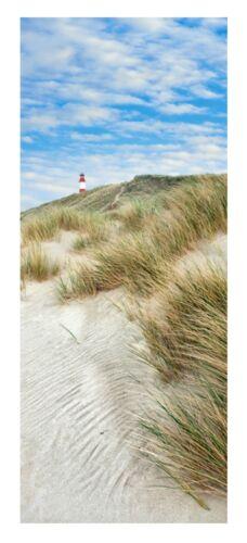 Textilposter Banner Dünen Landschaft Strand  Poster aus Stoff 75x180cm Wanddeko