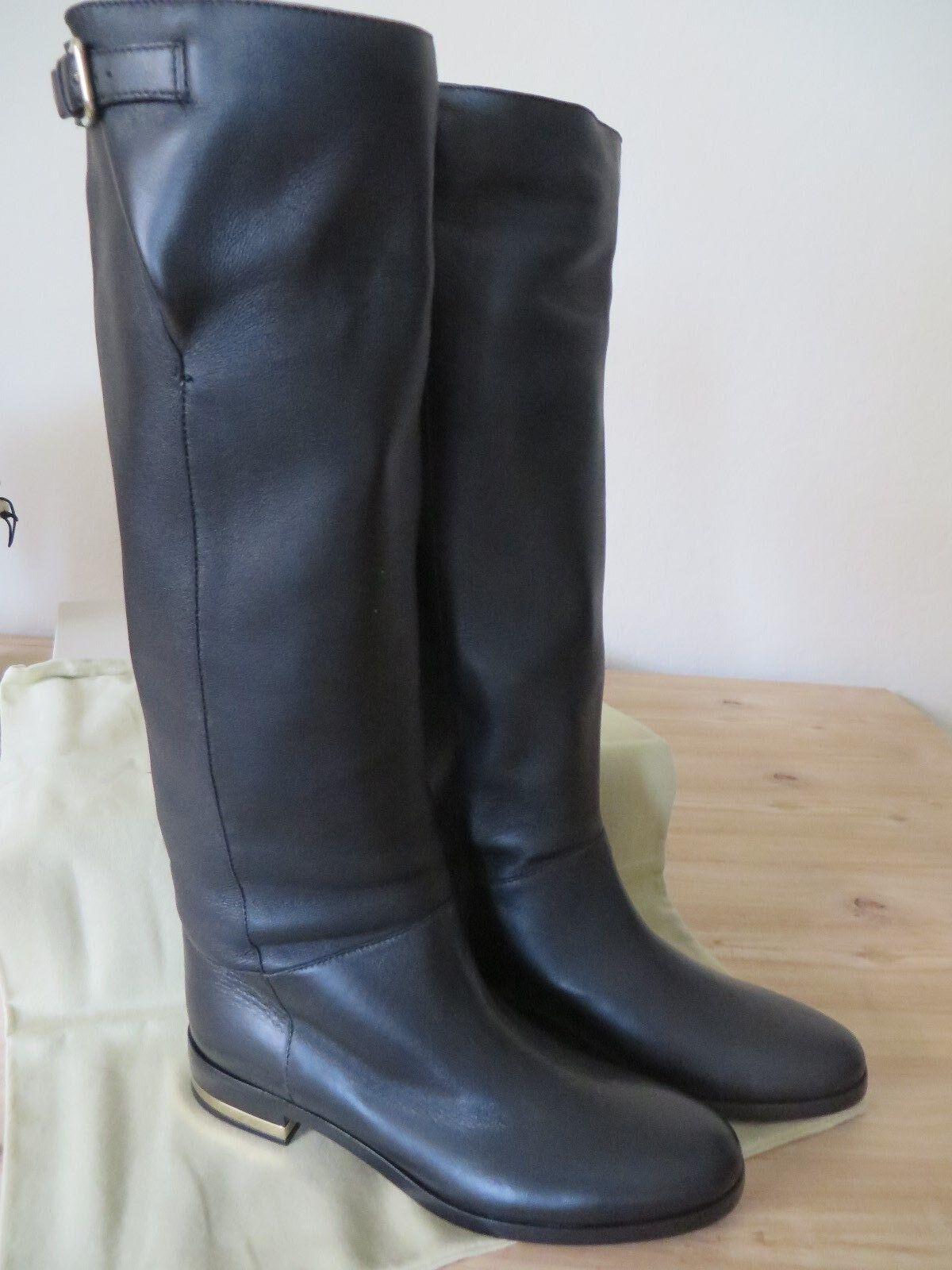 BurberryHouse     Black Leather  Boot   38.5 Eur MSRP   895.00 c725d8
